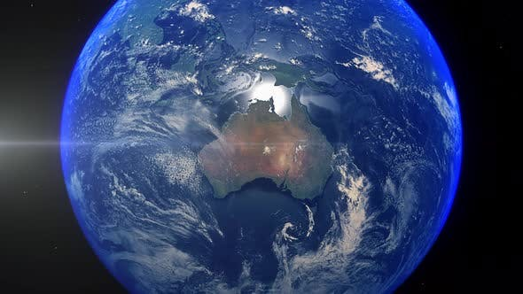 Thumbnail for Realistic Earth Zoom Out Clouds Australia