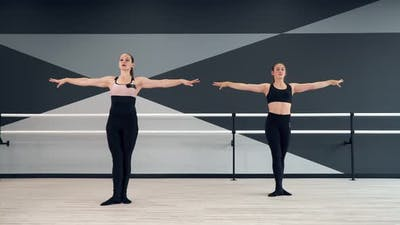 Synchronized Female Instructor and Girl in Learning Moves