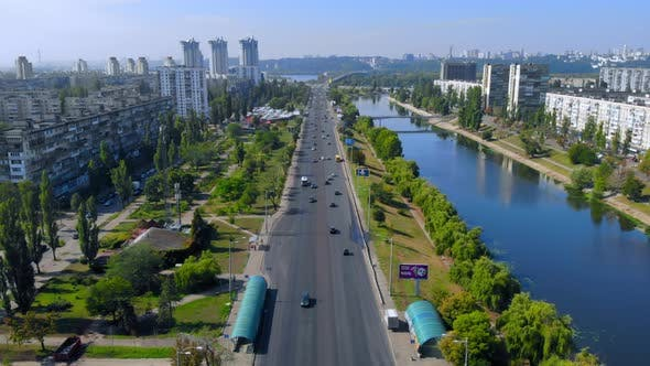Thumbnail for Aerial Drone Shot Town in Ukraine