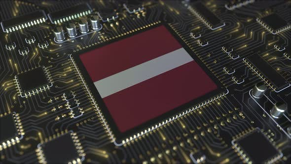Thumbnail for National Flag of Latvia on the Operating Chipset