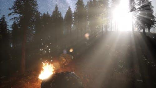 Campfire at Mountain