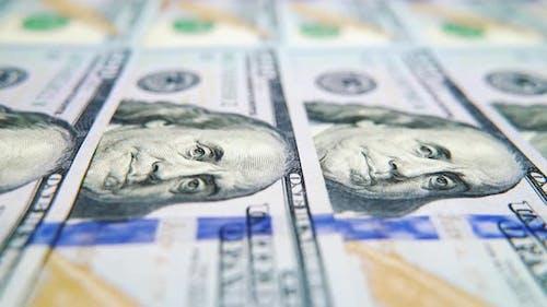 Macro of Cash Money with Benjamin Franklin