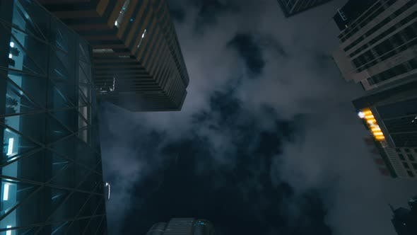 Thumbnail for Business Buildings at Night Time