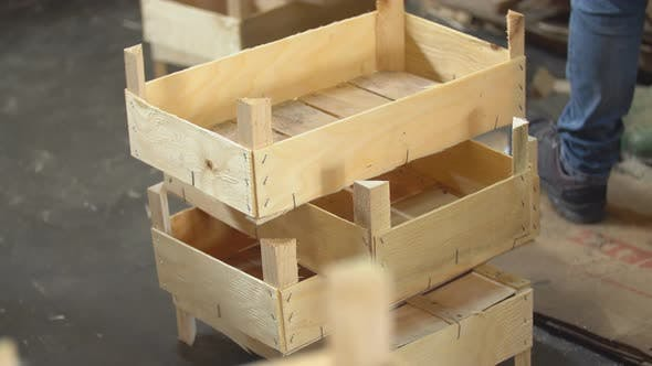 Thumbnail for Pile of Wooden Crates