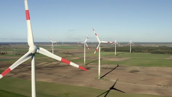 Thumbnail for Wind Farm Turning Windmills