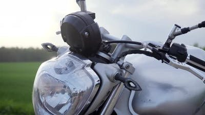 Close Up Shot Of Motorcycle