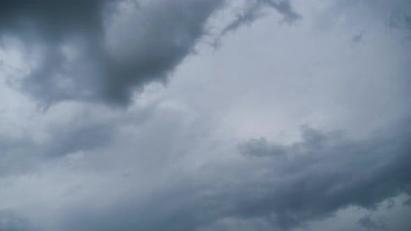 Thumbnail for Storm Clouds Are Moving in Sky, Timelapse