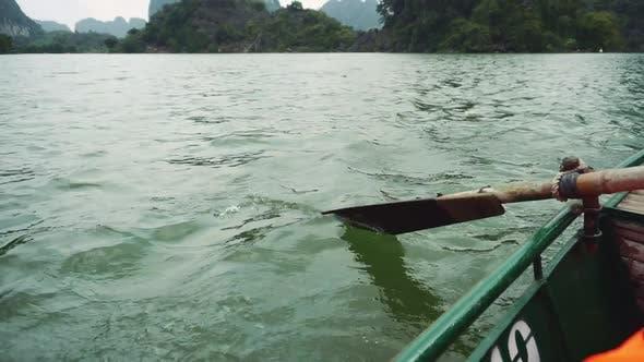 Thumbnail for Man Rowing Boat On Ninh Binh, Vietnam