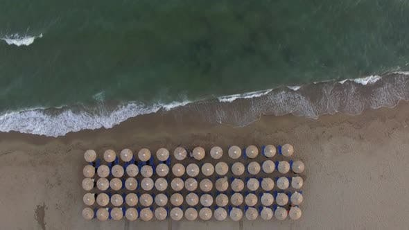 Thumbnail for Empty Sunbeds at the Seaside, Aerial