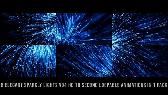 Sparkly Streak Lights Blue V01