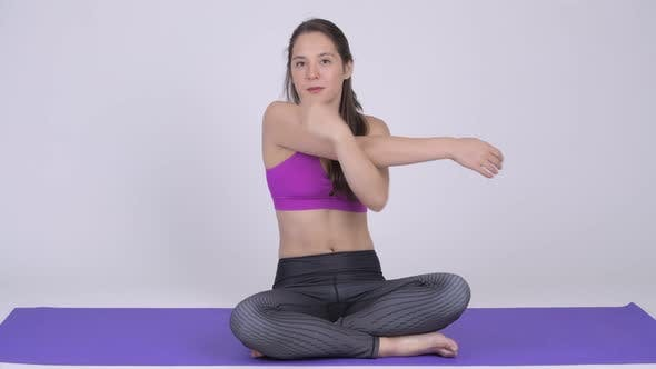 Thumbnail for Young Beautiful Multi-ethnic Woman Doing Yoga Pose