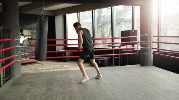 Man Having Boxing Training