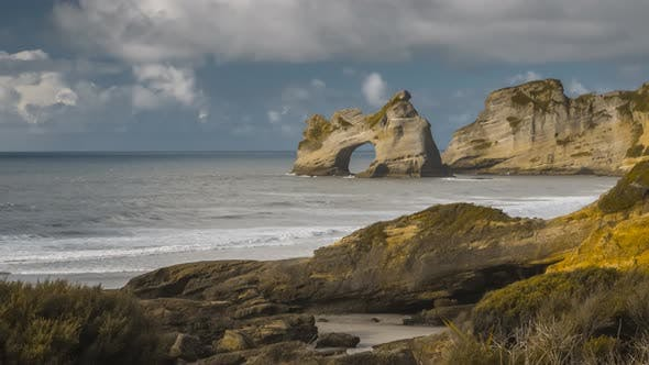 Thumbnail for Archway on New Zealand coast
