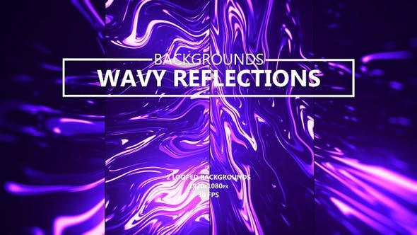 Thumbnail for Neon Wavy Reflections Abstract Backgrounds