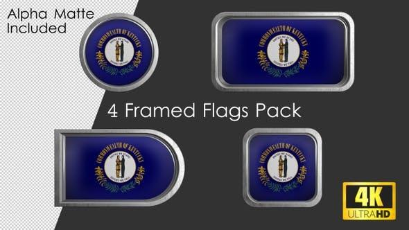 Thumbnail for Kentucky State Flag Framed