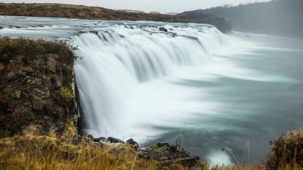 Thumbnail for Time Lapse of Vatnsleysufoss Waterfall In Iceland