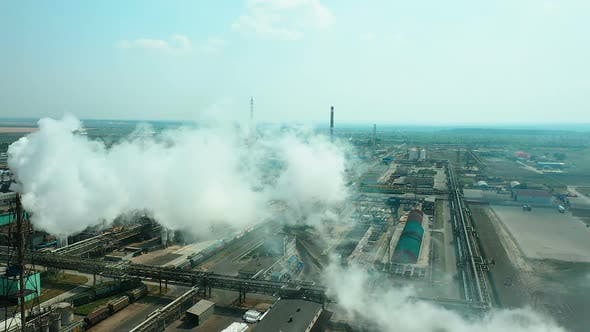 Thumbnail for Smoke From the Chimneys of the Plant, Air and Environmental Pollution. Huge Territory of the Plant
