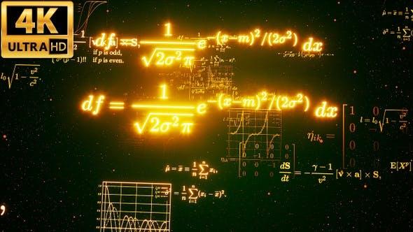 Thumbnail for Math Formulas Background 4k