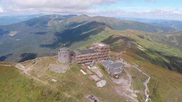 Thumbnail for Aerial View Top of Pip Ivan Chernogorsky Mountain and Carpathian Mountain Range