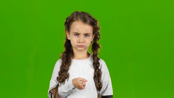 Thumbnail for Child Is Unhappy. Green Screen