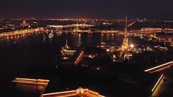 Thumbnail for Aerial Night View of Peter and Paul Fortress