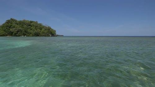 The Caribbean sea in Jamaica