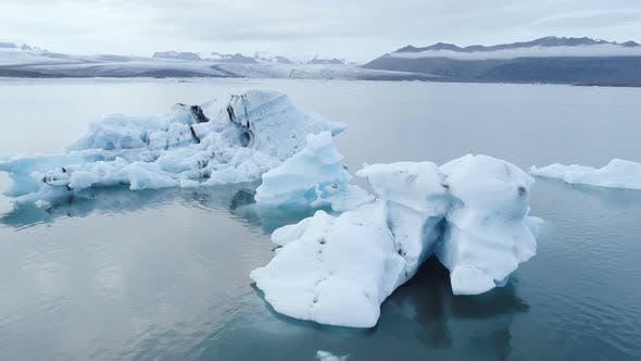 Thumbnail for Arctic Glacier Ice Floes Floating And Melting
