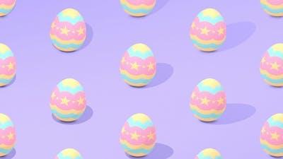 Purple Easter Egg Pattern Background