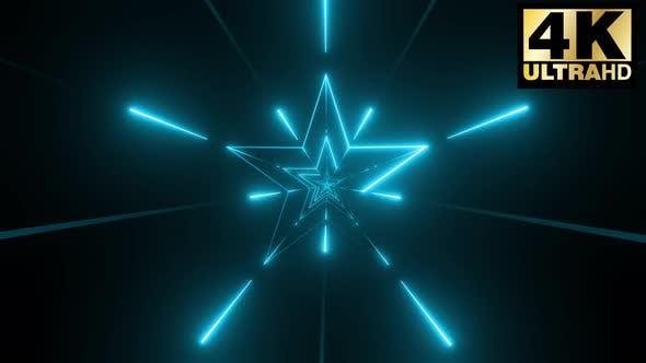 5 Colorful Stars  Stroke Vj Loop Pack