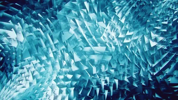 Blue 3D Triangles