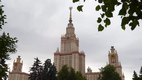 MSU Building in Moscow, Russia