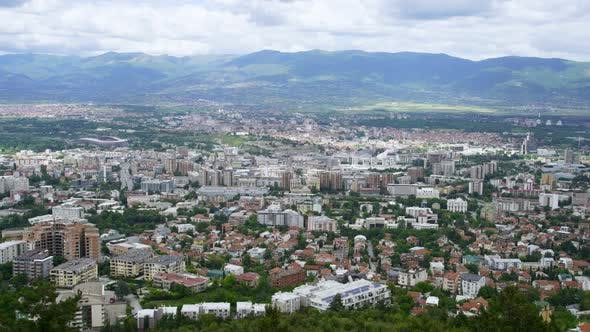 Thumbnail for Cityscape View of Old Ottoman District and Capital Skopje, Macedonia