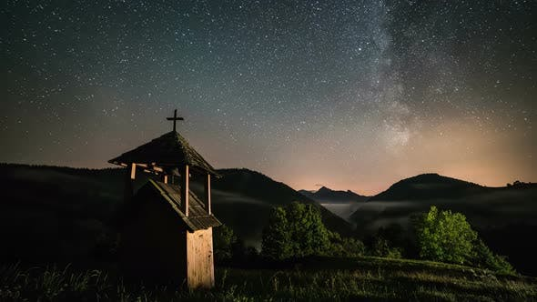 Thumbnail for Stars Night Landscape