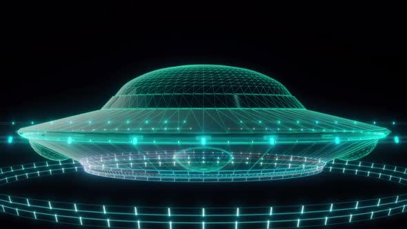 Ufo Flying Saucer Hud Hologram 4k