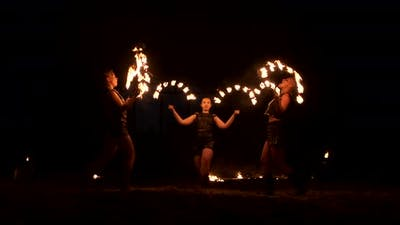 Group of Fire Jugglers