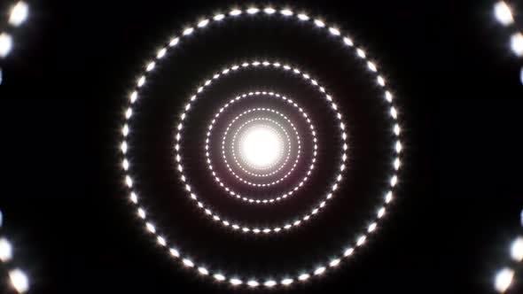 Kreis-Glitter-Licht 4K Schleife 01
