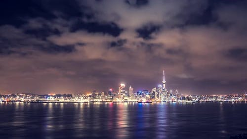 Auckland at night timelapse