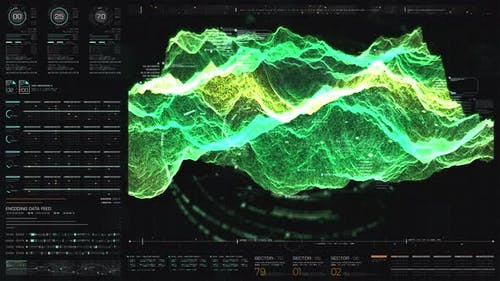 Futuristic Holographic Terrain Head Up Display 01