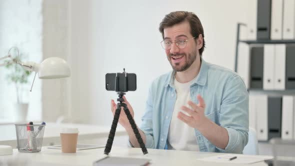 Video Recording Smartphone By Young Man