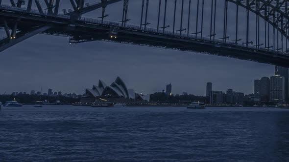 Thumbnail for Dusk in Sydney timelapse