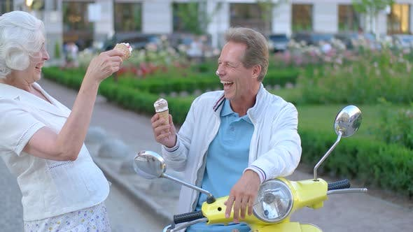 Ice Cream on Man's Nose.