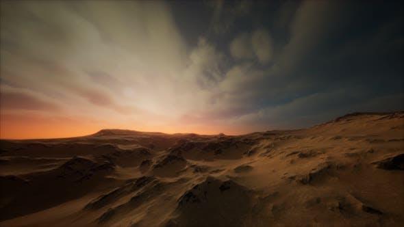 Desert Storm in Sand Desert