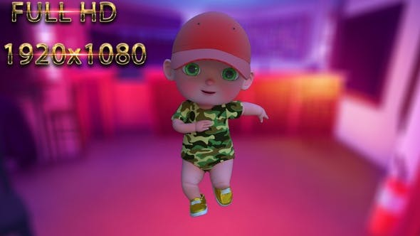 Cartoon Baby Dance V21 - 60 fps