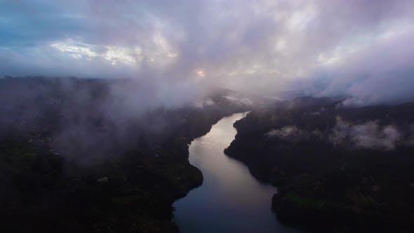 Mist Above River