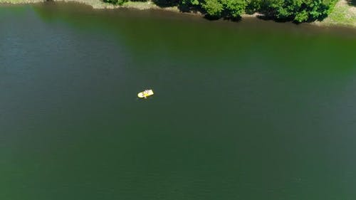 Top View Boat On Water