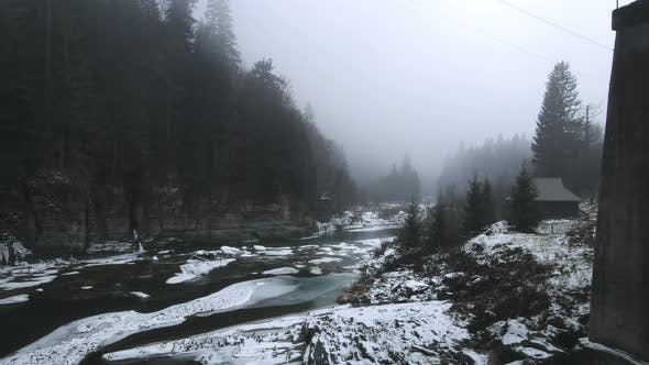 Prut River In The Carpathians From A Bird's Eye View