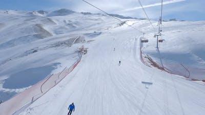 Ski and Ski Lift