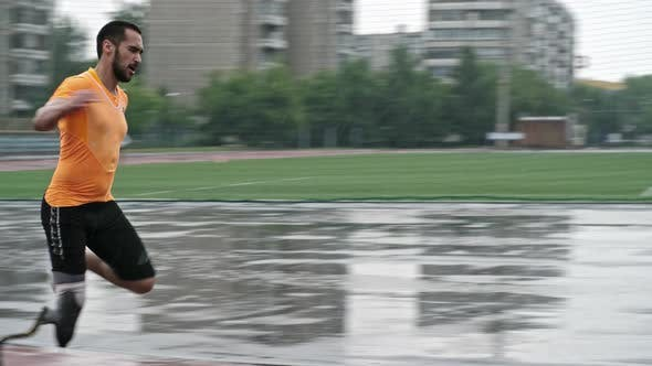 Thumbnail for Paralympic Blade Runner Training in the Rain