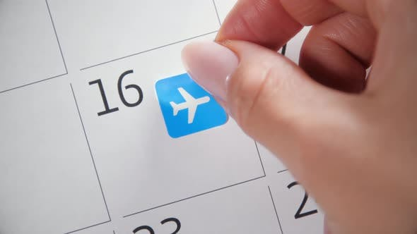 Thumbnail for Planning flight in calendar