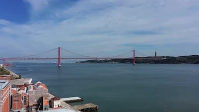 Tejo river in Lisbon